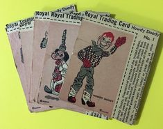 Vintage 1950's Howdy Doody Cards 14 DIFFERENT Royal Pudding
