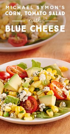 Michael Symon's grilled corn salad with tomatoes, avocado and blue cheese just screams patio weather entertaining! Your guests will love this fresh salad, all summer long. Click here for the how-to!