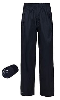 67776536d39d From Trespass Unisex Packaway Waterproof Trousers - Navy X-small