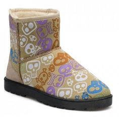 Snow Boots Trendy Platform and Skull Pattern Design For Women FREE SHIPPING !!!