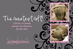 Adoption Birth Announcement #4
