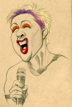 Cyndi Lauper by Zack Wallenfang: June 2009 Funny Caricatures, Celebrity Caricatures, Celebrity Drawings, 3d Character, Character Design, Caricature Artist, Cyndi Lauper, Wow Art, Disney Drawings