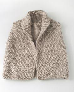 beige waistcoat, moss stitch