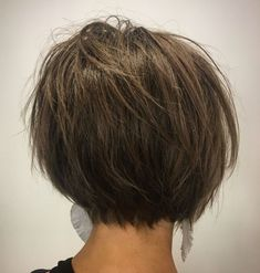 Tousled Razored Bob - 60 Classy Short Haircuts and Hairstyles for Thick Hair - The Trending Hairstyle - Page 15 Short Hairstyles For Thick Hair, Haircut For Thick Hair, Short Bob Haircuts, Short Hair Styles, Bobs For Thick Hair, Short Thick Hair, Short Hair Cuts For Women Bob, Thick Haircuts, Short Stacked Hair