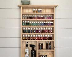 Essential Oil Holder, Essential Oil Storage, Young Living Oils, Young Living Essential Oils, Storage Shelves, Shelving, Diy Storage, Cabinet Storage, Smart Storage