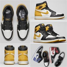 """Sneaker Info. on Instagram  """"Yellow Ochre Air Jordan 1. Check tonight s  YouTube video for more. Link in bio to subscribe."""" 19727bf7f"""