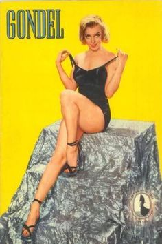 1956: Gondel (German) magazine cover of Marilyn Monroe .... #marilynmonroe #normajeane #vintagemagazine #pinup #iconic #raremagazine #magazinecover #hollywoodactress #1950s