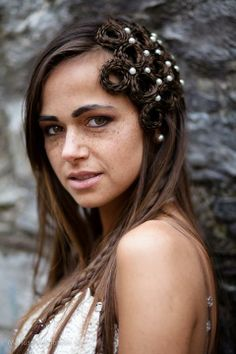 wedding handmade hairpieces (made of artificial hair) Bridal Hair Inspiration, Style Inspiration, Up Styles, Hair Styles, Haircut And Color, Hair Art, Hair Pieces, Hairdresser, Dreadlocks
