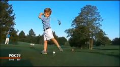 Sensational one armed golfer