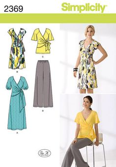 Wrap Dress Sewing Patterns as used in tonight's episode of the Great British Sewing Bee! http://www.minervacrafts.com/products/simplicity-2369-simplicity-sewing-pattern-2369-misses-dress-and-separates-choice-of-sizes.html