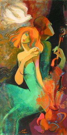 Harmonious Beginning by Irene sheri. For more information about artist's artworks contact Sienna Fine Art. Tango Art, Virtual Art, Abstract Faces, Funky Art, Inspiration Art, Portrait Art, Artist Art, Female Art, Canvas Art