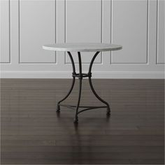 French Kitchen Round Bistro Table | Crate and Barrel