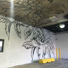 Starbucks Coffee Branch Graffiti Mural painted in the Starbucks ...