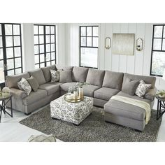 Home living room Renchen 4 Stück Sectional - Jennifer Furniture America Hits The Showers Imagine was Furniture, Jennifer Furniture, Home Living Room, Farm House Living Room, Living Room Furniture, Living Room Remodel, Living Room Sectional, Living Furniture, Living Decor