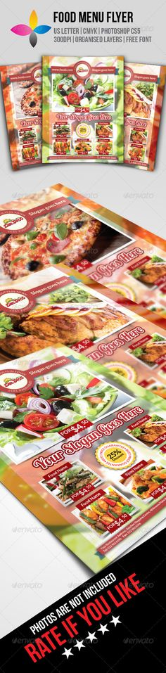 Food Menu Flyer Print Template PSD | Buy and Download:  http://graphicriver.net/item/food-menu-flyer/8407351?WT.ac=category_thumb&WT.z_author=inddesigner&ref=ksioks