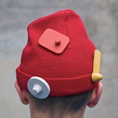 "Designer Michal Jonca ""steals"" a great idea, appropriating an anti-theft security device and turns it into a humorous pin-on accessory."