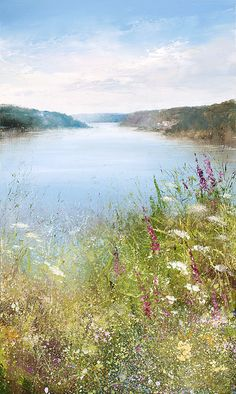 Amanda Hoskin - At St. Winnow Point, as I explore the Fowey Valley - oil on paper