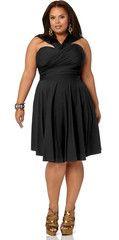 Marilyn Convertible Dress, Short.  LBD.