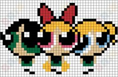 Graph Paper Drawings, Graph Paper Art, Pixel Pattern, Pattern Art, Embroidery Art, Cross Stitch Embroidery, Blossom Bubbles And Buttercup, Easy Pixel Art, Pokemon Cross Stitch
