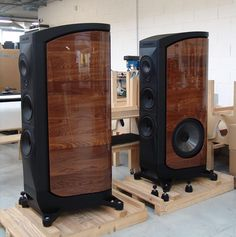 The Sonus Faber on their Crates, Ready to be Packed.