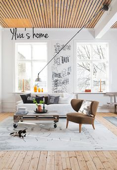 "I like everything of this living room. Good to have this on our board so we can get ideas, right?   ""Ylva's home in sweden"""