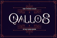Check out Qallos Typeface by Half Moon Design on Creative Market