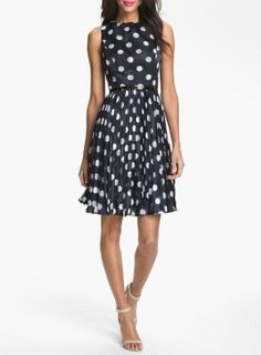 Love for a bridesmaid! Polka Dot Fit & Flare Dress