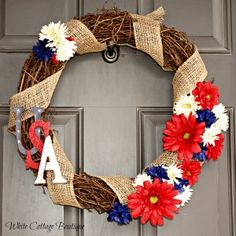 4th of July Wreath on Door