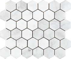 White Honeycomb Tile With Black Grout