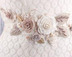 Bridal sash wedding sash flower wedding sash bridal by GadaByGrace