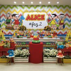 Ontem foi dia da Alice com@um tema que remete a nossa infância, todo colorido e fofo demais....turma da Mônica!!! Obrigada @mpamarques por mais um ano juntas!!! Com @alinebaloes e @paticonfeitaria no @buffetminhafesta