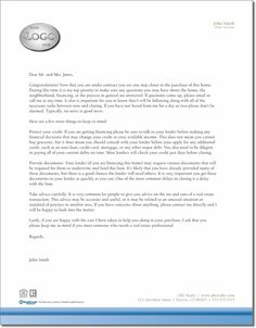 buyer under contract letter template