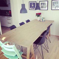 Pyyyyh .. Store beslutninger er blevet taget Idag om den helt store flytning. Mange ting skal sælges da der ikke er plads i det nye hus. Men en ting som SKAL med er dette bord, som både Nikolaj og jeg elsker.. #myhome #flytning #wood #træ #rustikt #spisebord #eames #dinnerroom #interiør #indretning #spisestue #triptrap #indretning #skalmed #tungt @bjornwiinblad @lyngbyporcelain #pottedame @lopper_delux @ikeadanmark #homesickblog #nordiskhjem @nordiskehjem @tendensbolig #tendensbolig…