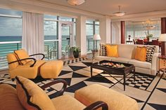 Breathtaking ocean views and exclusive amenities make The Ritz-Carlton Suite at The Ritz-Carlton, South Beach the ultimate indulgence.