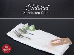 Eine Serviette in eine anschauliche Tischdeko zu verwandeln ist gar nicht so schwer, wie es vielleicht aussieht. Faltet euch Schritt für Schritt zur Bestecktasche. So wird's gemacht!