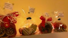 Marzipan-Schoko-Swirl, Spekulatius-Noten, Christmas Crossies, Schwäbische Leckerei und Schoko-Mandel Chips.