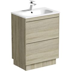 Mode Austin Oak Vanity Unit And Stone Basin Bathroom Storage Units, Bathroom Vanity Units, Contemporary Bathroom Furniture, Oak Vanity Unit, Wood Hinges, Stone Basin, Basin Mixer Taps, Metal Drawers, Bathroom Essentials