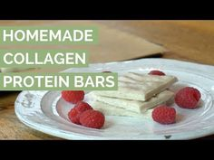 This nutrient-dense collagen protein bar recipe features a powerhouse combo of grassfed collagen protein and metabolism-boosting coconut. Best Protein Bars, Protein Bar Recipes, Protein Cake, Low Carb Protein, Protein Bites, Vegan Protein, High Protein, Collagen Protein, Protein Bars