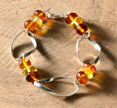 Amber Hoop Bracelet, Bracelets, Jewelry - The Museum Shop of The Art Institute of Chicago