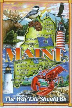 """Maine - """"Pine Tree State"""""""