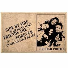 A good gift for men: Friends For Forever Personalized Wooden Plaque This trendy wooden plaque is perfect desktop/ showcase item for your house. An ultimate gift for your loved/ dear ones for any event, your photo or text will be engraved to a wooden plaque. #giftformen