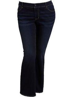 Women's Plus The Rockstar Boot-Cut Jeans - Dark Wash