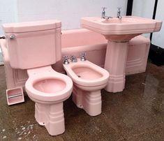 Stunning Pink Art Deco Bathroom Suite Rare and by SkaVooVie