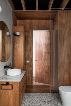Wooden Cabin in Elwood by FIGR Architecture Studio – Design. Bathroom Interior, Modern Bathroom, Master Bathroom, Studio Interior, Interior Styling, Interior Design, Studios Architecture, Interior Architecture, Wooden Cabins