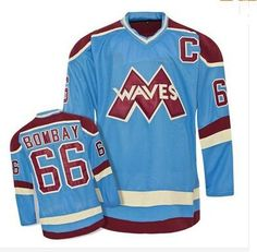 6c188f73e71 2019  66 Gordon Bombay VERY RARE NO RESERVE Gordon Bombay Gunner Stahl  Mighty Ducks Waves Hockey Jersey Any Name And Any Number From  Projerseysword