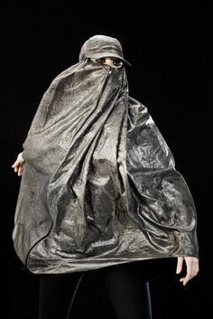 Adam Harvey // anti-drone burqa - This was created to keep you hidden from the thermal surveillance by drones.