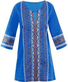 ShopStyle: Velvet Navajo embroidered dress