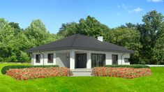 Wizualizacja Dom przy Pastelowej 3 bis CE Gazebo, House Plans, Shed, Outdoor Structures, Home Decor, Home Plans, Modern Houses, Trendy Tree, Simple Lines