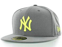 Custom New York Yankees Grey-Volt 59FIfty Fitted Baseball Cap by NEW ERA x MLB