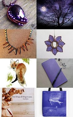 Peppermint Creek: Purple and Copper Beauty by Debbie on Etsy--Pinned with TreasuryPin.com